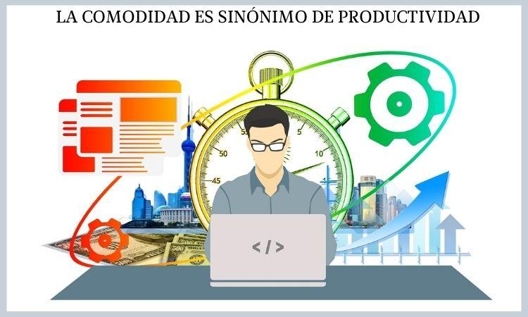 comodidad y productividad en el trabajo