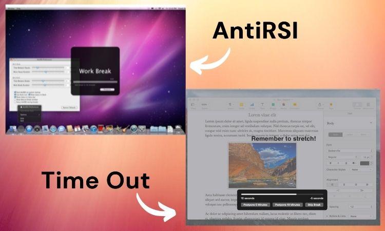 aplicaciones para tomar descansos para mac time out y antirsi